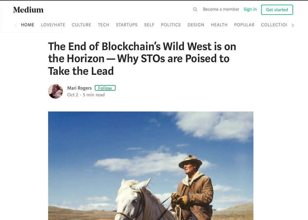 The End of Blockchain's Wild West is on the Horizon — Why STOs are Poised to Take the Lead