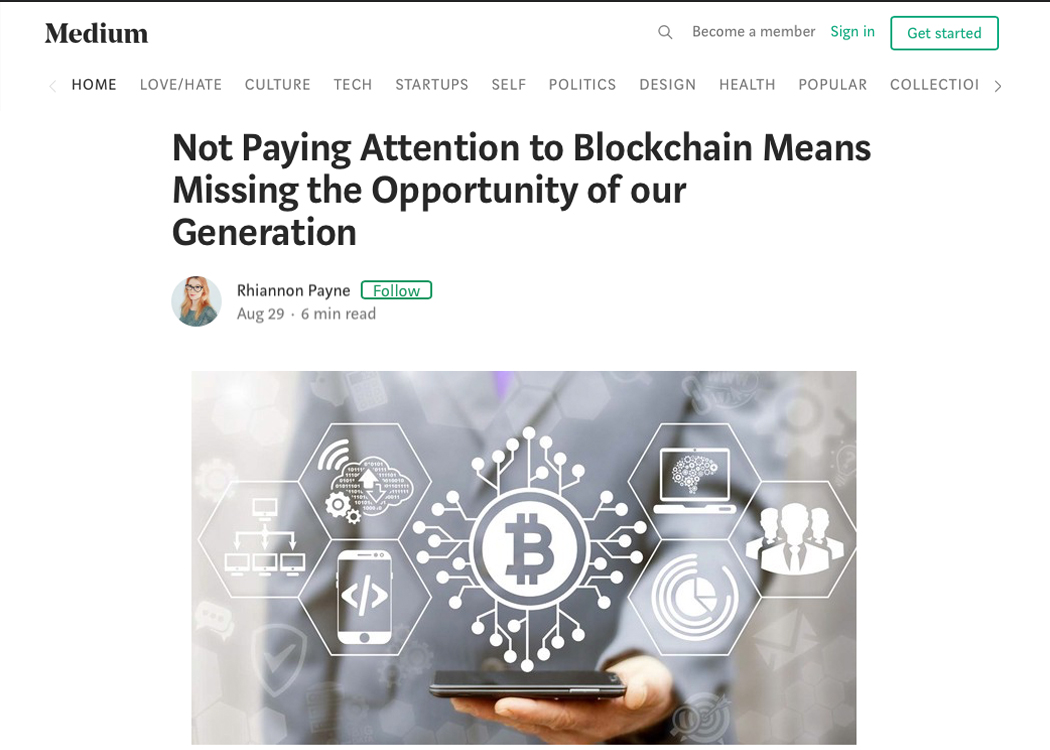 Not Paying Attention to Blockchain Means Missing the Opportunity of our Generation