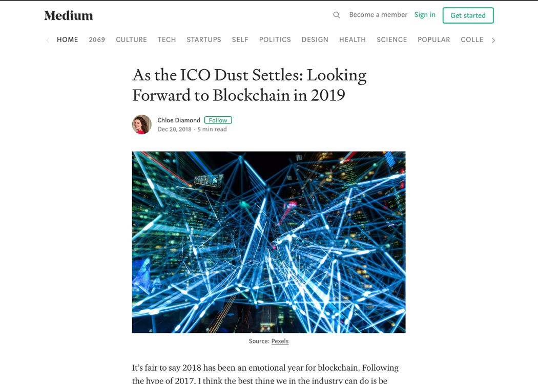 As the ICO Dust Settles: Looking Forward to Blockchain in 2019