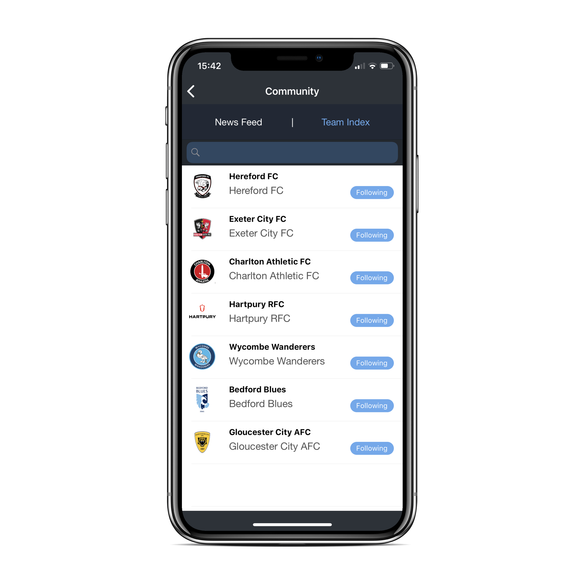 Follow your favourite teams… - The app allows clubs to have a direct link with the consumer offering updates on ticketing, travel advice, fixture updates and so much more. Push-through notifications ensures that the fans match day experience is effortless from leaving their front door to getting to their match seat.