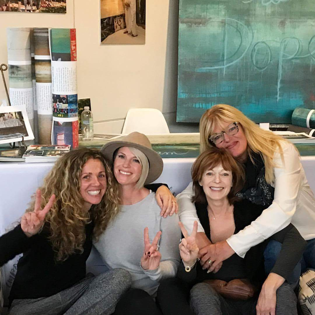 Yogi Seane Corn, Mindful Mat's Hannah Etherson, Actress and Advocate Frances Fisher, and myself