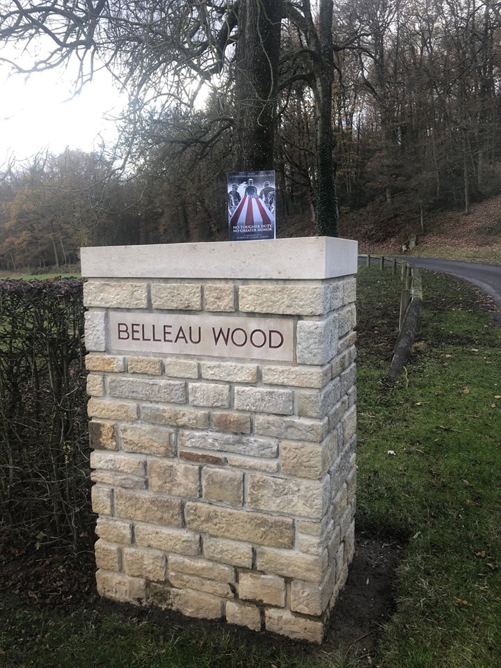 The book at the famous WWI battlefield Belleau Wood
