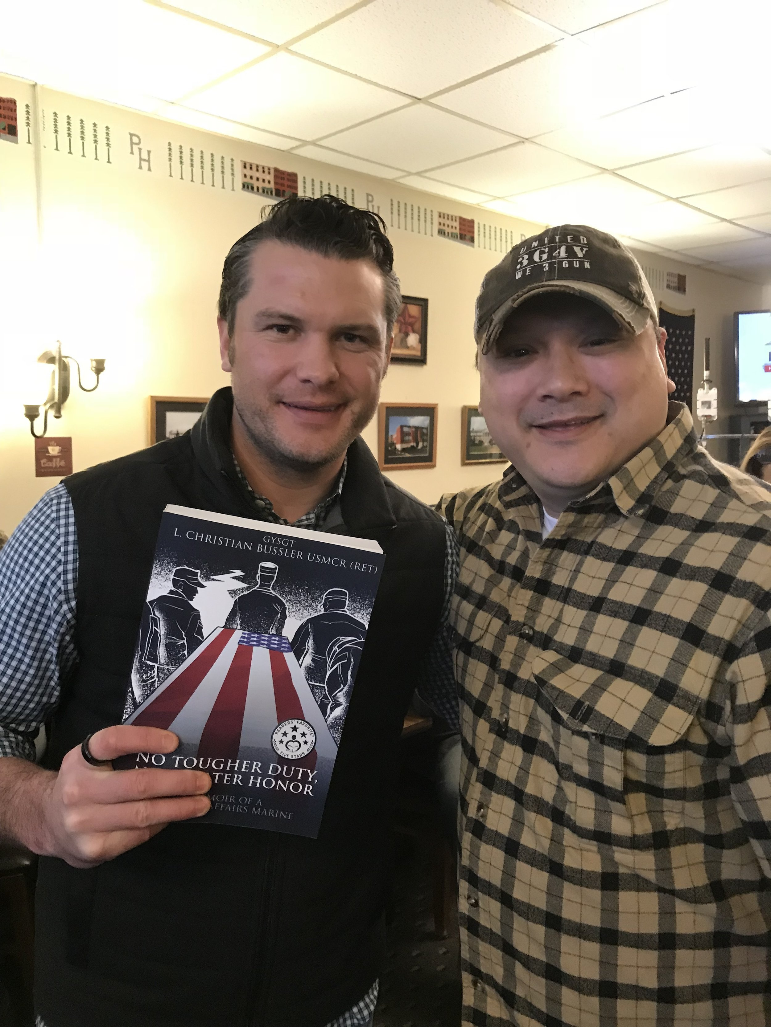 US Army veteran, two time Bronze Star recipient, Pete Hegseth of Fox & Friends