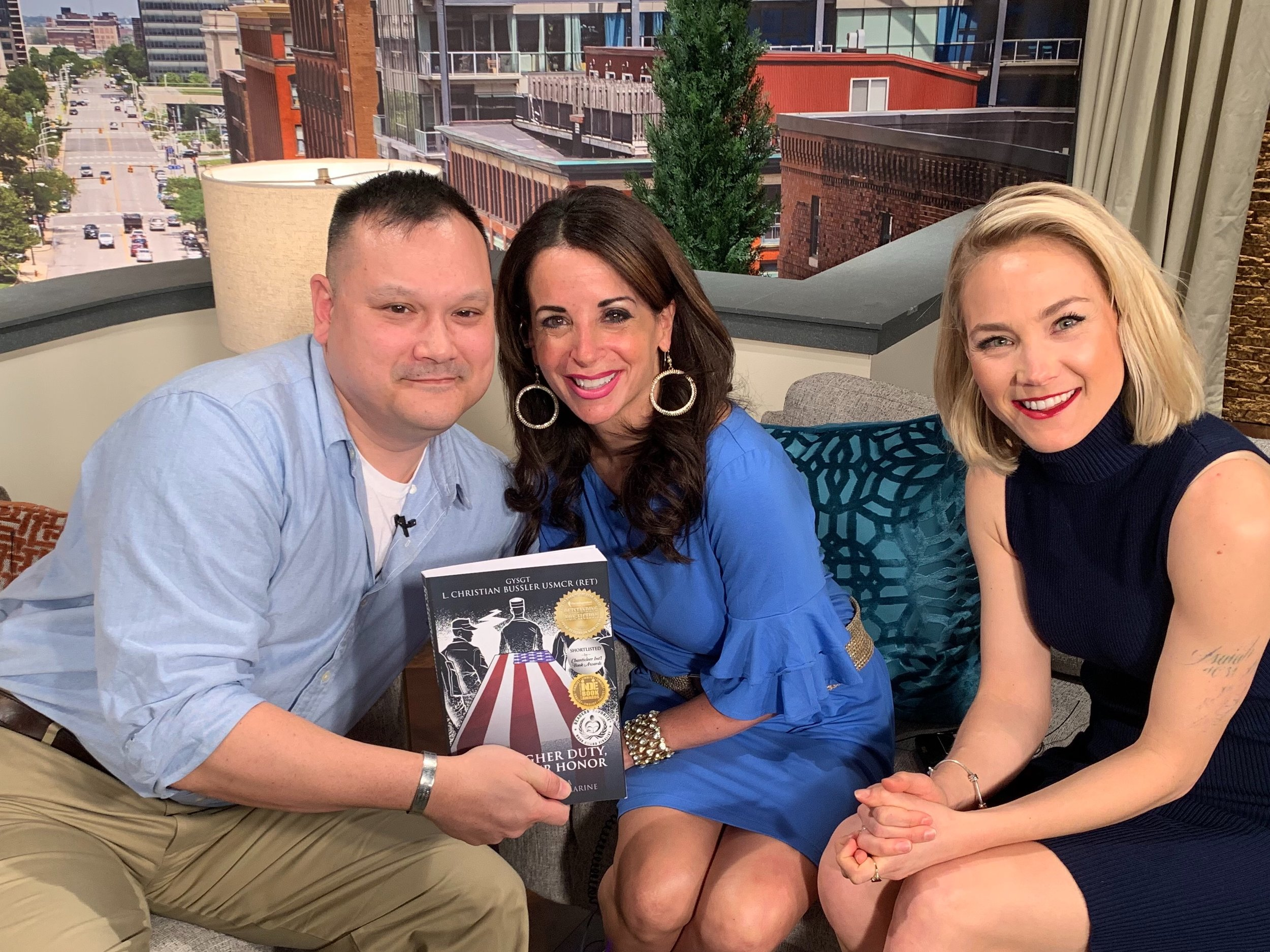 """Thank you to Holly, Alexa, and the crew of """"Live on Lakeside"""" Channel 3 WKYC Cleveland."""