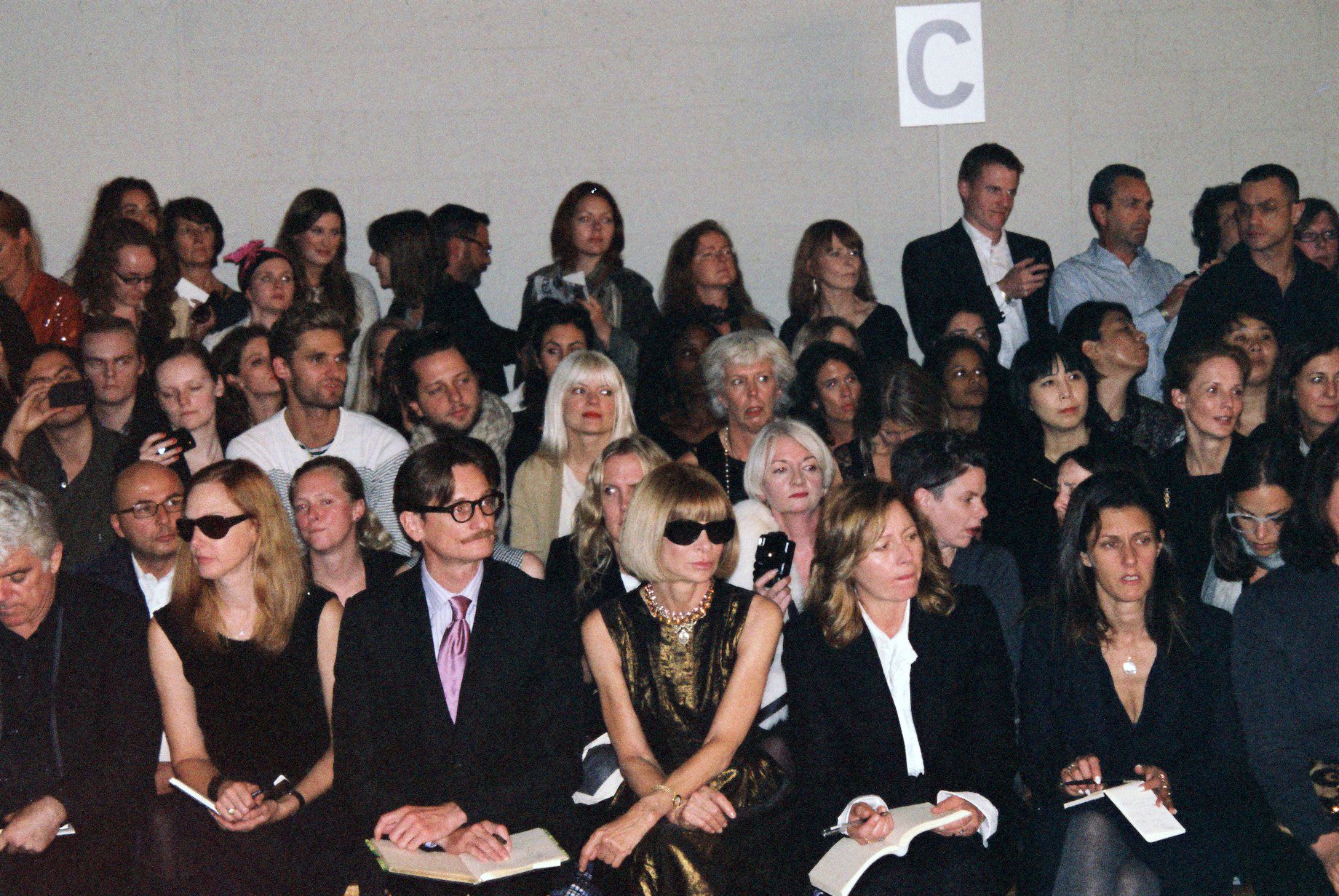 Anna Wintour and Hamish Bowles - Christopher Kane SS 2011
