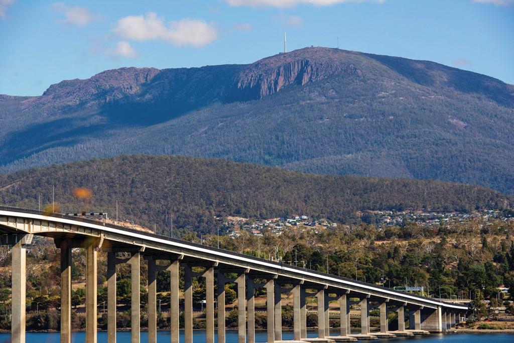 The Batman Bridge and Mount Wellington, Hobart