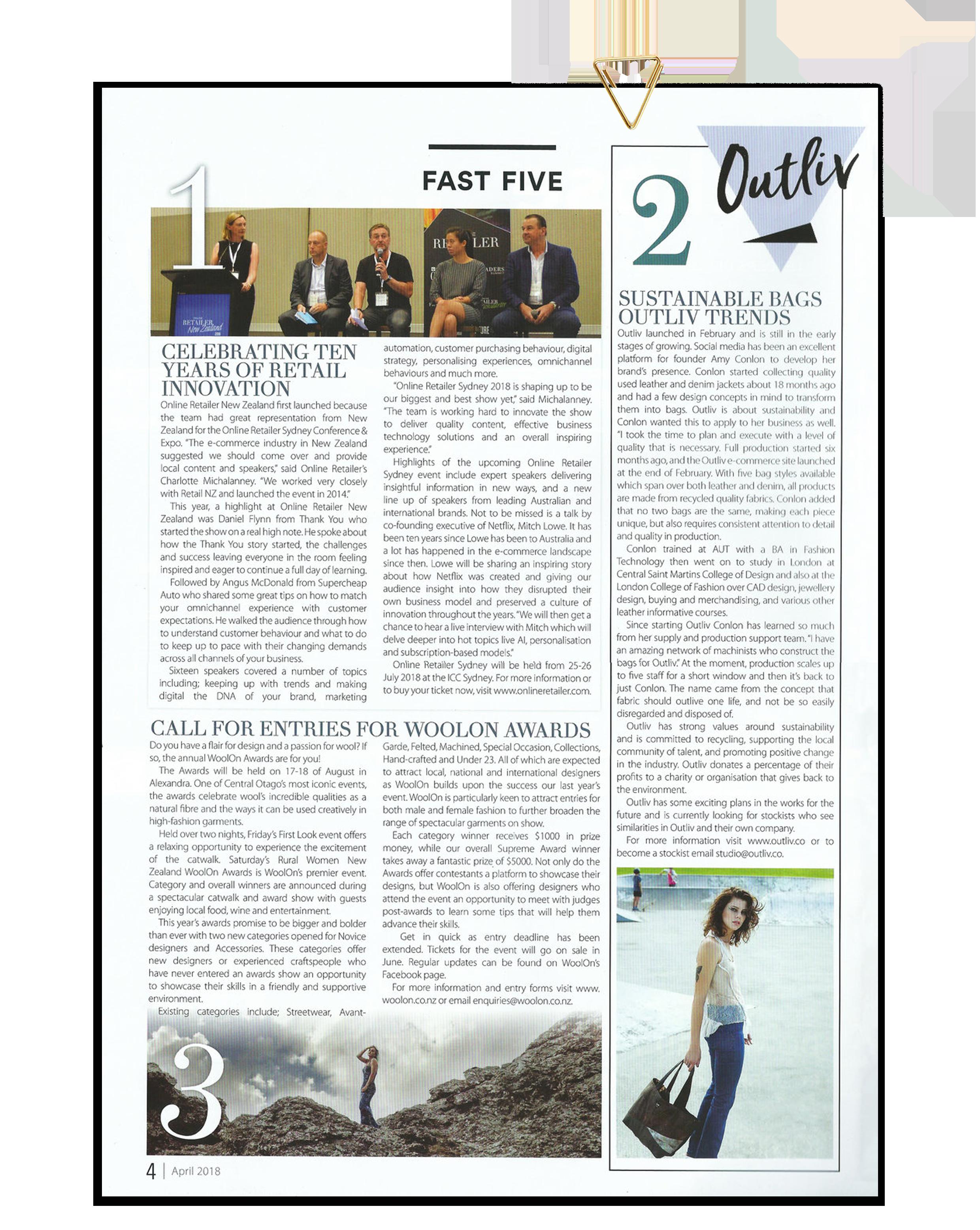 APPAREL MAGAZINE | www.apparelmagazine.co.nz | Print Vol. 51 No 4 | April 2019