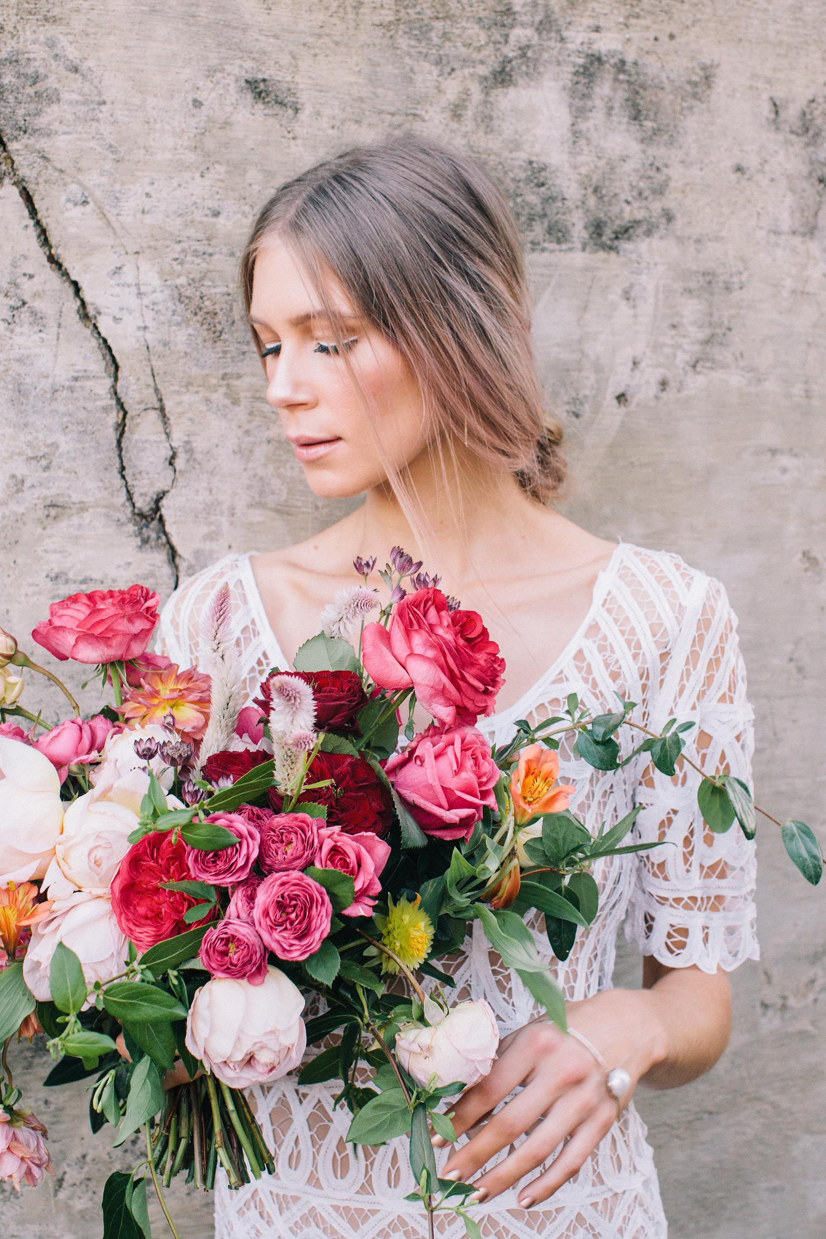 BOTANIC BRIDE - TANIELLE JAI MUAROSE APPLE FLOWERSTHE EVENTS CO.
