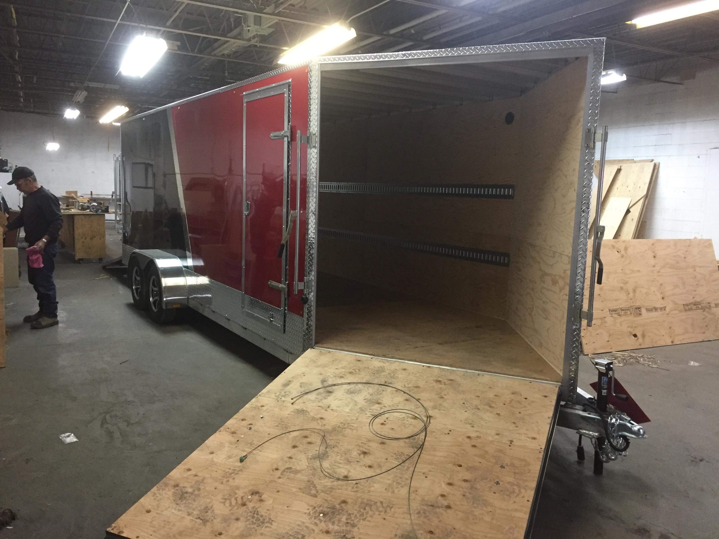 Front Load Dual Axle Cargo Trailer