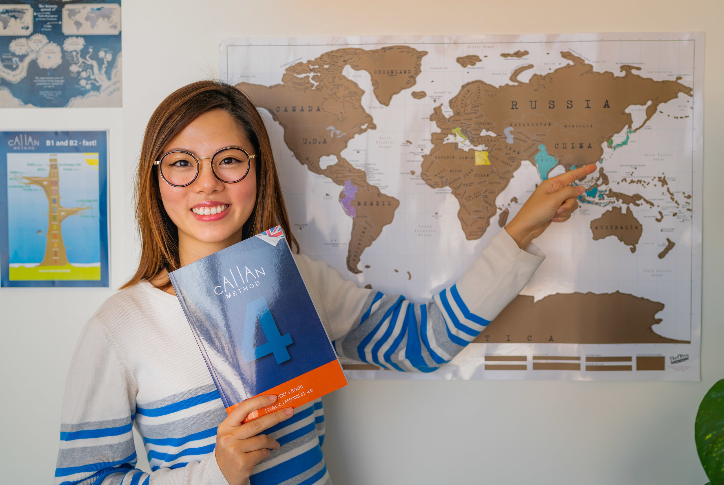 At Ace Language Academy we teach English using the Callan method, where our teachers correct your mistakes as soon as you make them. Learning is fast, because the classes are organised, efficient and fun, and you are constantly surrounded by native English speakers. -