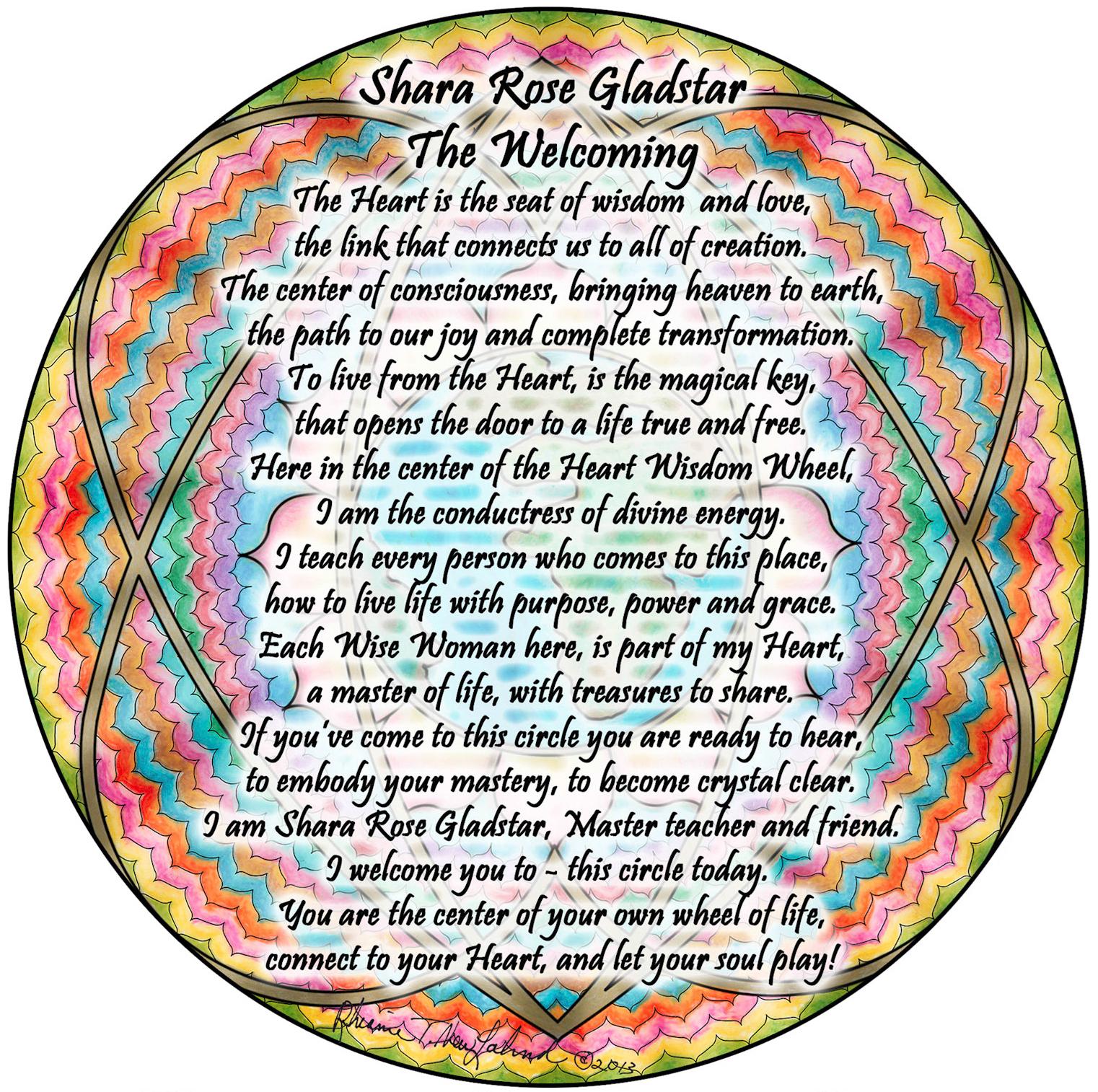 card front shara rose - Simply Enchanted Living - Rhianne Newlahnd - Sedona Arizona.jpg