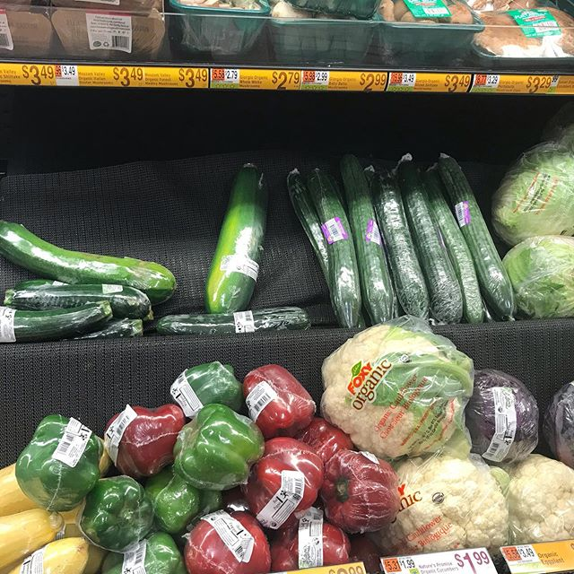 **slide left to see the candy aisle. (I have nothing against candy. I love it, but there's an imbalance) . Just sayin there's a lot of food privilege going on out there. I live in a poor, post-industrial region and this picture contains all of the organic plastic wrapped soggy produce that was available in the top grocery store yesterday. God bless the Little Falls coop for being the only decent priced store with high quality food. And even that is a far drive for many folks in the Mohawk Valley. . When I travel outside of the area I always wish I could load up my suitcase with food because it is so much more abundant and better quality. Why do some communities, like even rural communities I've visited in California and even the Hudson Valley, have vibrant looking food and we don't? . This may sound like I'm complaining and I am a little but there are serious health impacts to not having quality accessible food. Even just ingredients. Like all those grain-free nutritious delicious meals I see folks posting recipes for can be hard to replicate because I can't get the needed ingredients. . As a practitioner it's a challenge to guide folks toward more healthful food choices when they can't find them locally. And it's frustrating for myself when I go shopping and end up not wanting to buy anything I see. 😳🤷🏻‍♀️