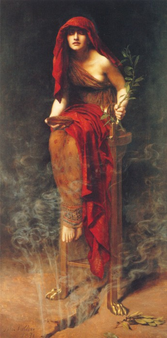 John Collier: Priestess at Delphi