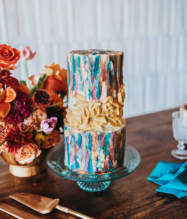 This cake was TO DIE FOR!! Amazing work from @10bloomcakes. 🍰 . . . #weddinginspiration #weddingcake #weddingcakeinspiration #cakedesigns #weddingcakedesign #colorpopwedding #wilmingtonweddings #wilmingtonncweddings #raleighnc #raleighncweddings #charlottencwedding #10bloomcakes #cakesofinstagram #colorfulcakes #brightandfun #yummyinmytummy #weddingphotographer #weddingphotography #northcarolinaweddingphotographer #tphkweddings #cakephotography #bohowedding #2020weddings #2020weddinginspiration #styledweddings