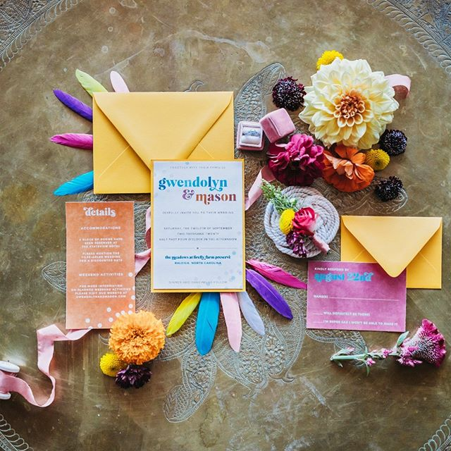 Loving the color pop in this flat-lay. Thanks to @emilylaynedesigns for the pretty invitation and @timelessloveweddings for putting this set together! . . . #weddinginvites #weddinginvitations #weddingdayphoto #northcarolinawedding #northcarolinaweddingphotographer #colorfulwedding #colorpop #raleighnc #raleighnorthcarolinaweddings #weddingworkshop #flatlaywedding #weddinginspo #weddinginspiration #wilmingtonnc #wilmingtonnc #themeadowsraleigh #thephotographyofhaleykatherine #haleykatephotos #tphkweddings #weddingdetails #weddingdetailshot #bohoweddingdress #rusticweddings #georgiaweddings #southcarolinawedding #newlyengaged #justengaged #engagedandinspired #shesaidyes