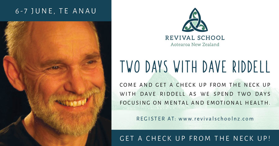 David Riddell helps Revival School students learn about identity, transformation, intimacy, sonship, vision, dreams, destiny.