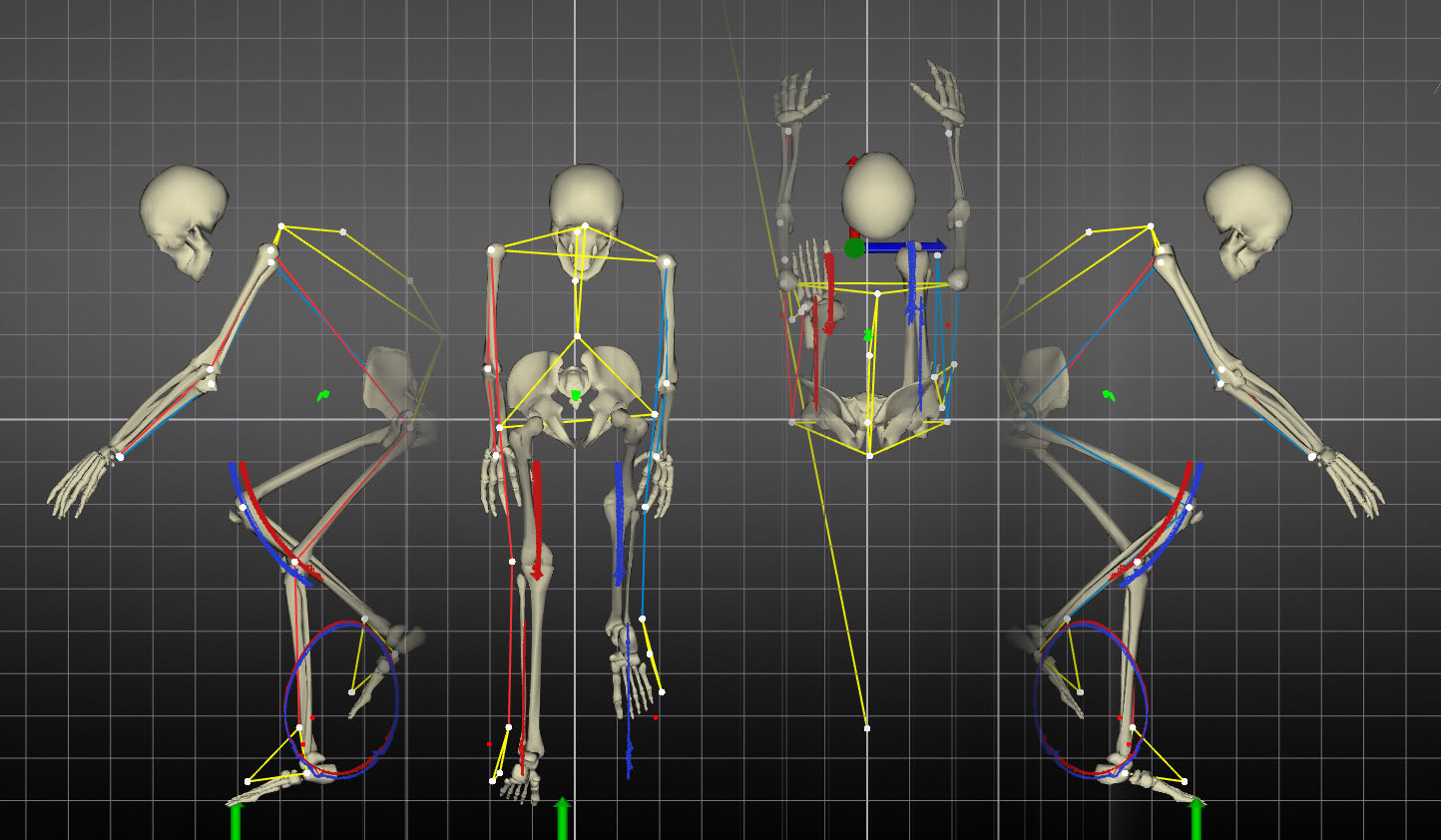 Real-time 3D reconstruction of the rider's full-body motion.