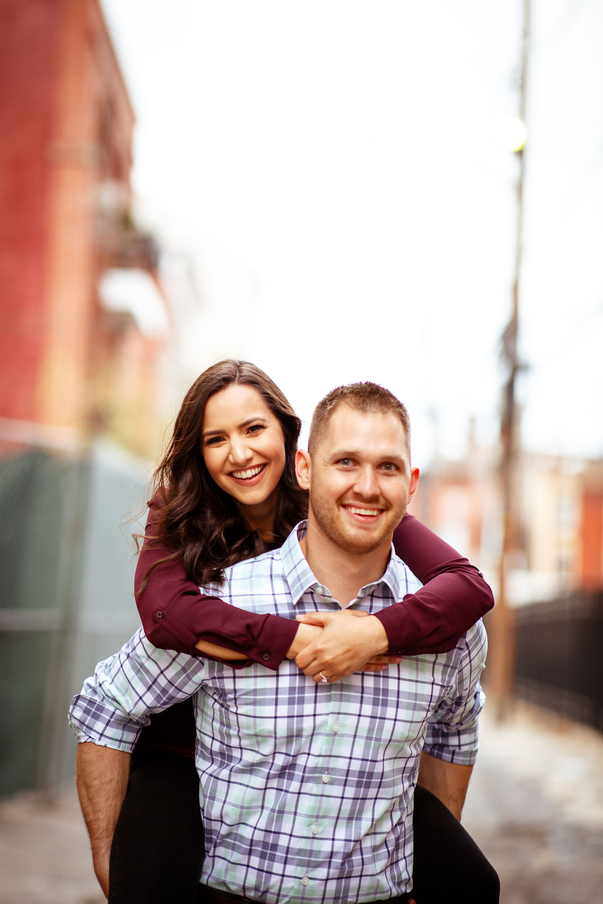 Hoboken Couple happy engagement