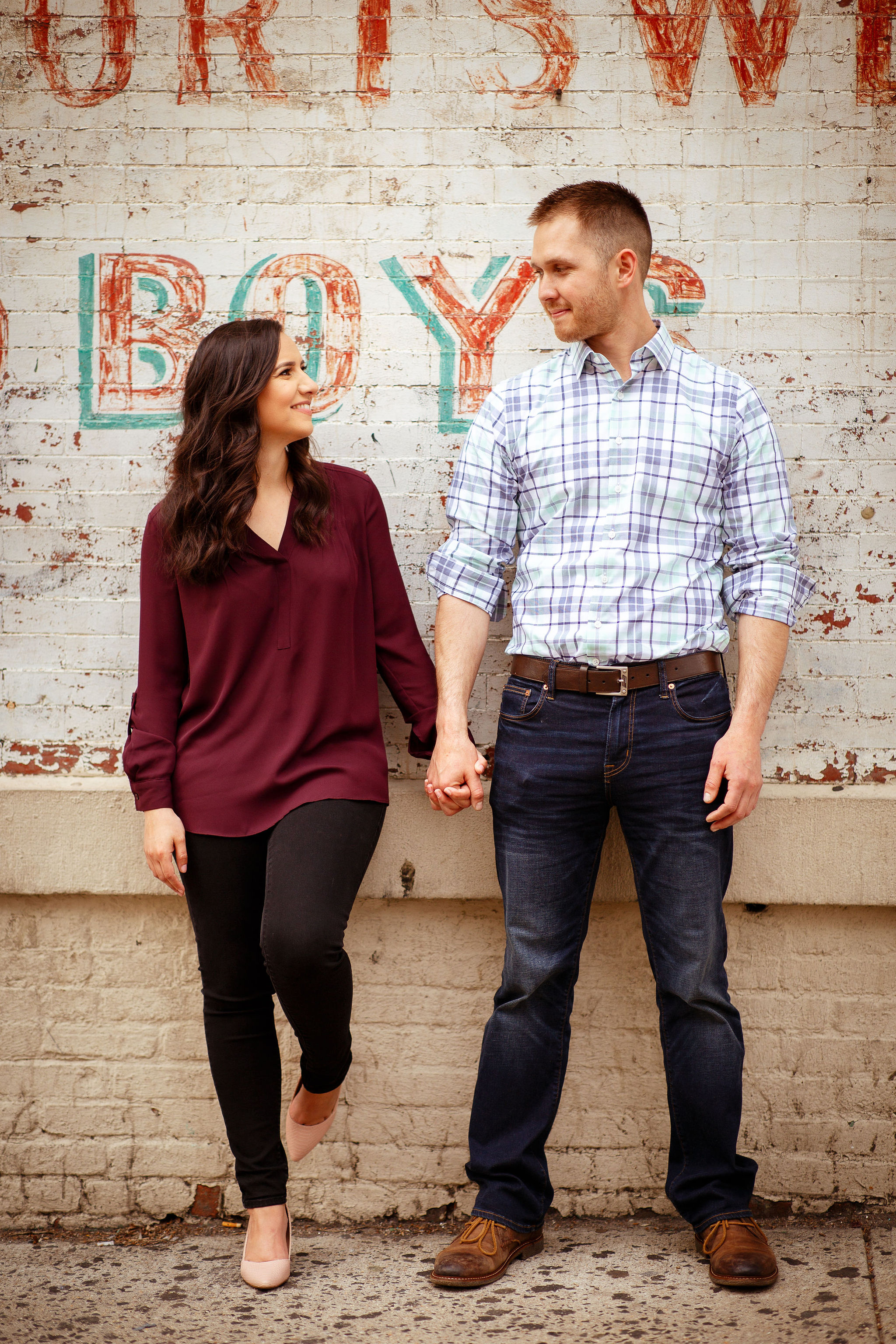 hoboken engagement session couple