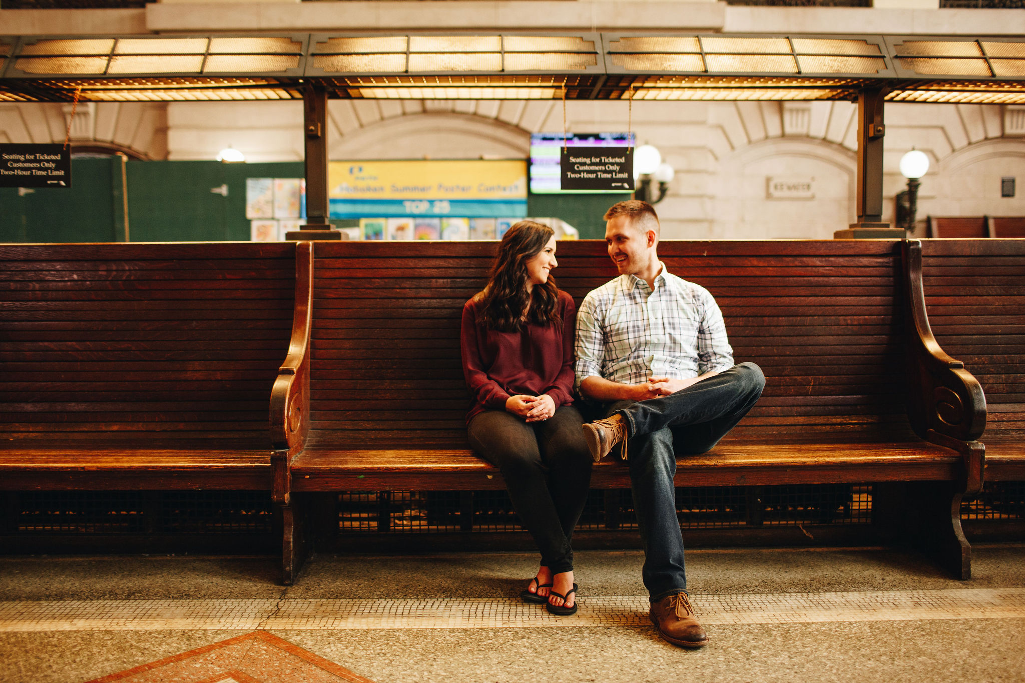 hoboken train station engagement