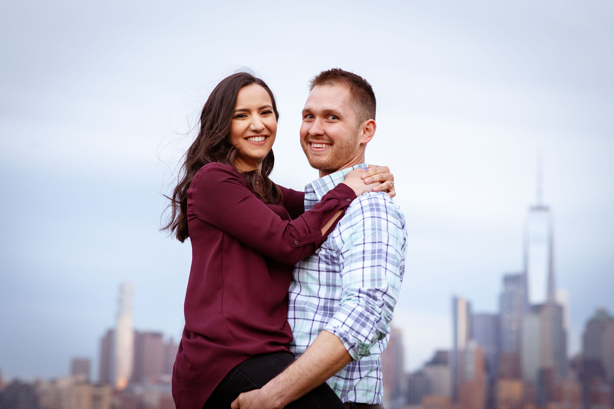 hoboken couple engagement photographer