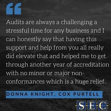 Donna Knight of @coxpurtell Staffing Services recently expressed to us the company's gratitude toward SEC for providing support in preparation for their triple certification.  Cox Purtell have been a pleasure to work with and share our belief that service excellence is mandatory. Thank you Cox Purtell for your commitment to your business' services!  #excellence #consulting #client #review #feedback #service #recruitment #professionalstaffing #labourhire