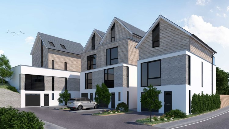 Small development of 4 contemporary dwellings