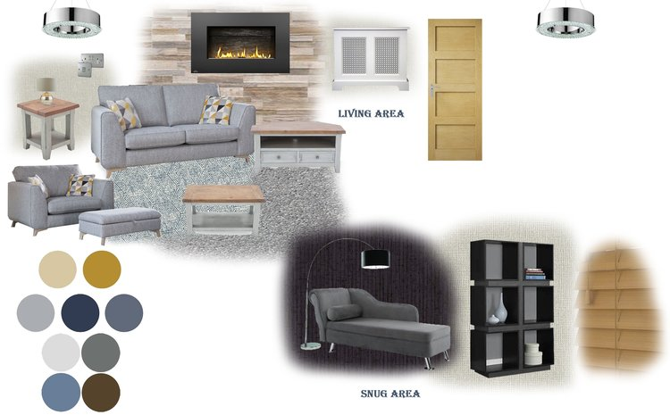 Copy of A mix of contemporary and traditional design presented on a mood board