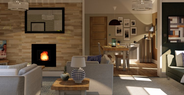 Copy of Open-plan living with a traditional feel