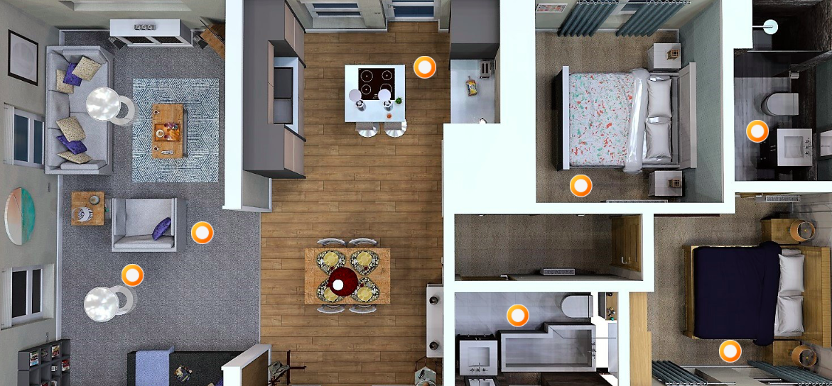 Take your site and floor plans to the next stage – make them interactive. To enjoy 360 degree examples with selectable hotspots clicker, click here.