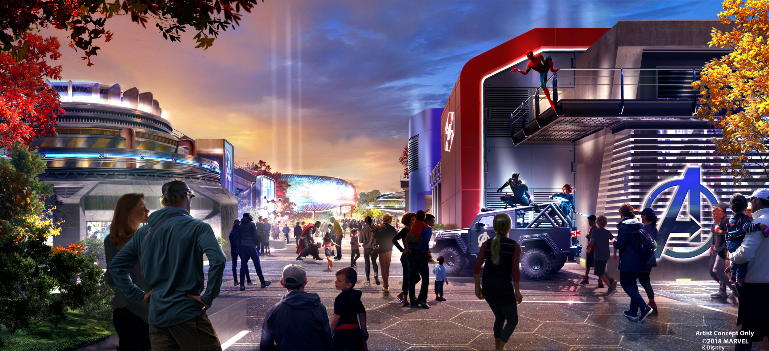 Marvel Land   This new area will allow guests to encounter the heroes in new and exciting ways, from the mystic arts of Doctor Strange to the gravity defying feats of Spider-Man. Guests will also experience the latest in Pym Technology with Ant-Man and Wasp and be wowed as Iron Man, Captain Marvel, Black Panther, Captain America and more leap into action on a moment's notice.  In addition to unforgettable heroic encounters, incredible new attractions, thrilling entertainment offerings and dining options, guests will experience a completely reimagined  Rock'n' Roller Coaster , which will become a high-speed, hyper-kinetic adventure.  As part of a €2 Billion, multi-year expansion plan, this immersive area marks a first step in the transformation of Walt Disney Studios Park. One of the park's areas will be completely transformed, giving the Marvel Super Heroes a permanent presence at Disneyland Paris. With legendary storytelling, even more action and adventure using innovative technology, and both indoor and outdoor shows and entertainment, this authentic experience will cement Walt Disney Studios Park as a must-do for all guests.  With three new areas based on Marvel, Frozen and  Star Wars , along with multiple new attractions and live entertainment experiences, this ambitious development will bring to life some of the world-renowned stories and iconic characters of these popular franchises.