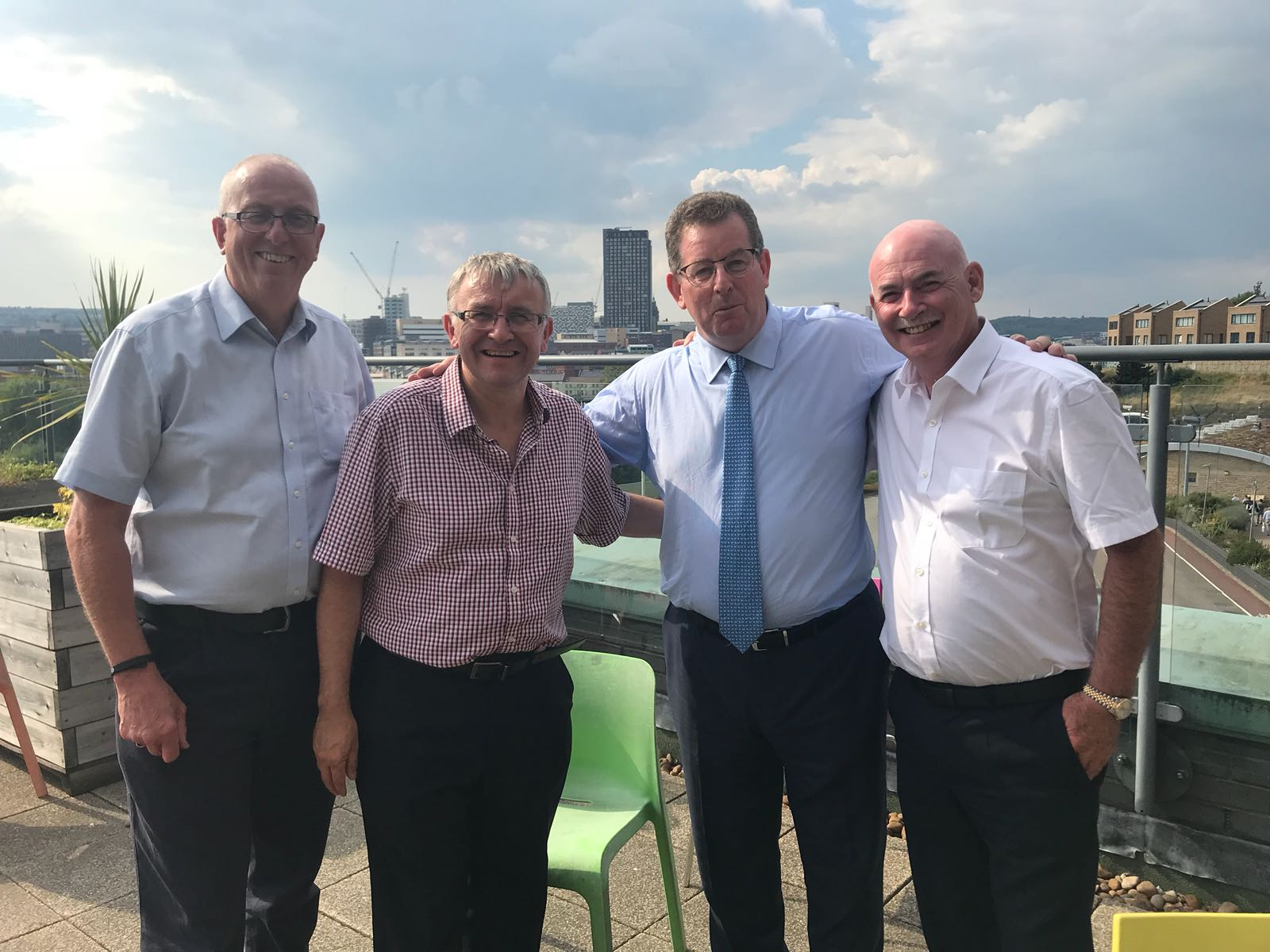 Pictured above is our Founder, George McIvor (right), alongside The Full Range Brand Ambassador, Andrew Bennett MBE (left) as well as John Williams and David McKown.