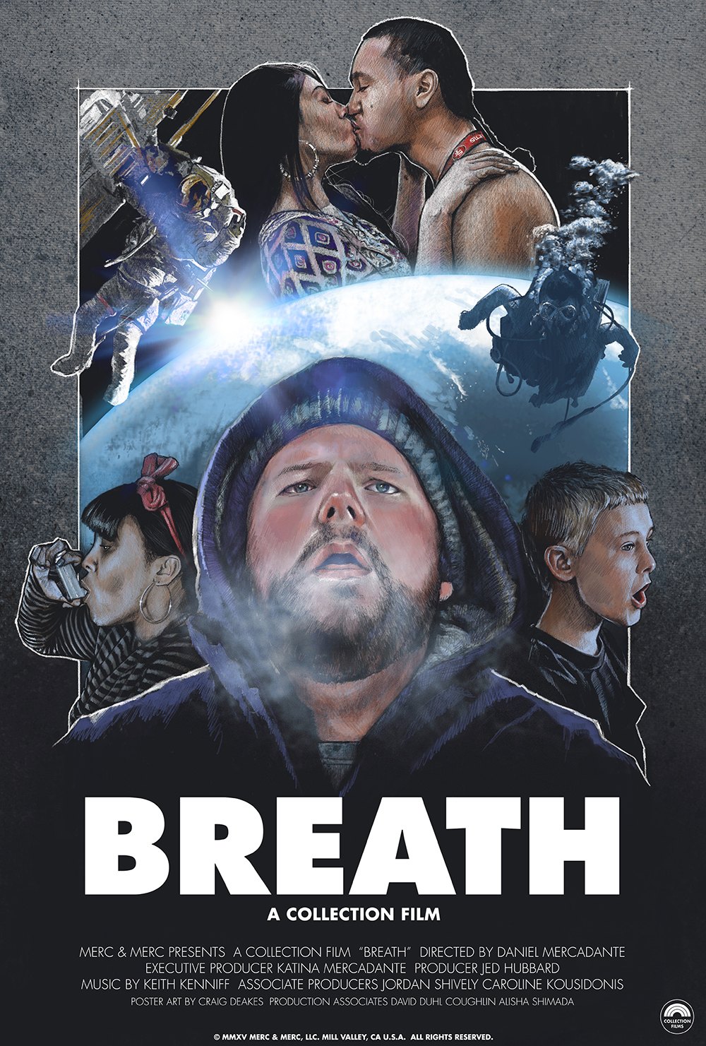 Breath  - A film about the invisible life-force.Credits:Made by The MercadantesDirector/DP/Editor - Daniel MercadanteExecutive Producer - Katina MercadanteProducer - Jed HubbardAssociate Producer - Jordan ShivelyMusic - Keith KenniffPoster Art - Craig Deakes Featured:Vimeo Staff PickColossalAdAge CreativityGizmodoBooooooomA Plus