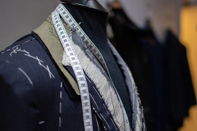 The devil is in the detail… .  Although, at first look the baste stitching could be overlooked on a mannequin, it is what ensures the garment is BESPOKE, made to fit specifically you. .  Be sure to check out our Jargon highlight for definitions on what a baste and basting is. .  #mccannbespokelondon #mccannman #menstailoring