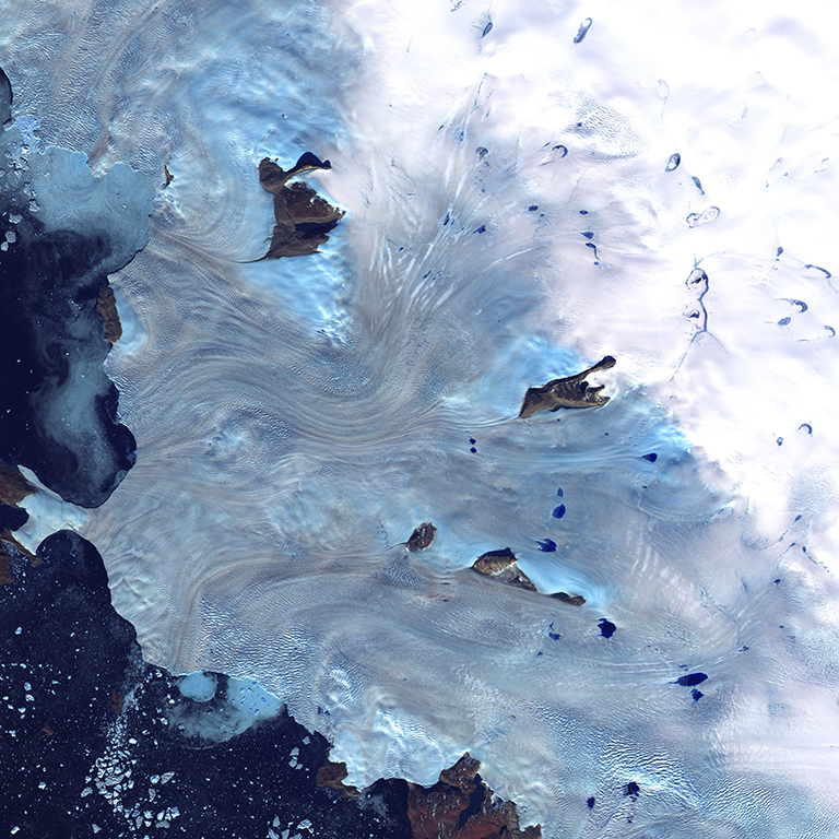 Baffin Bay, Greenland. Source:  NASA .