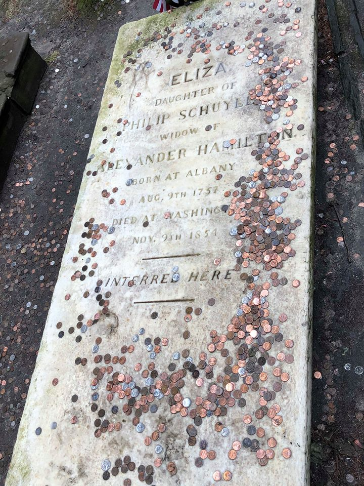 A. Hamm, his wife Eliza and his son Phillip are buried in this vault