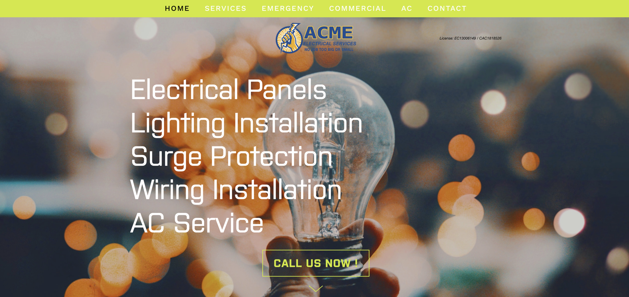 Click to view acmeelectricalservices.com