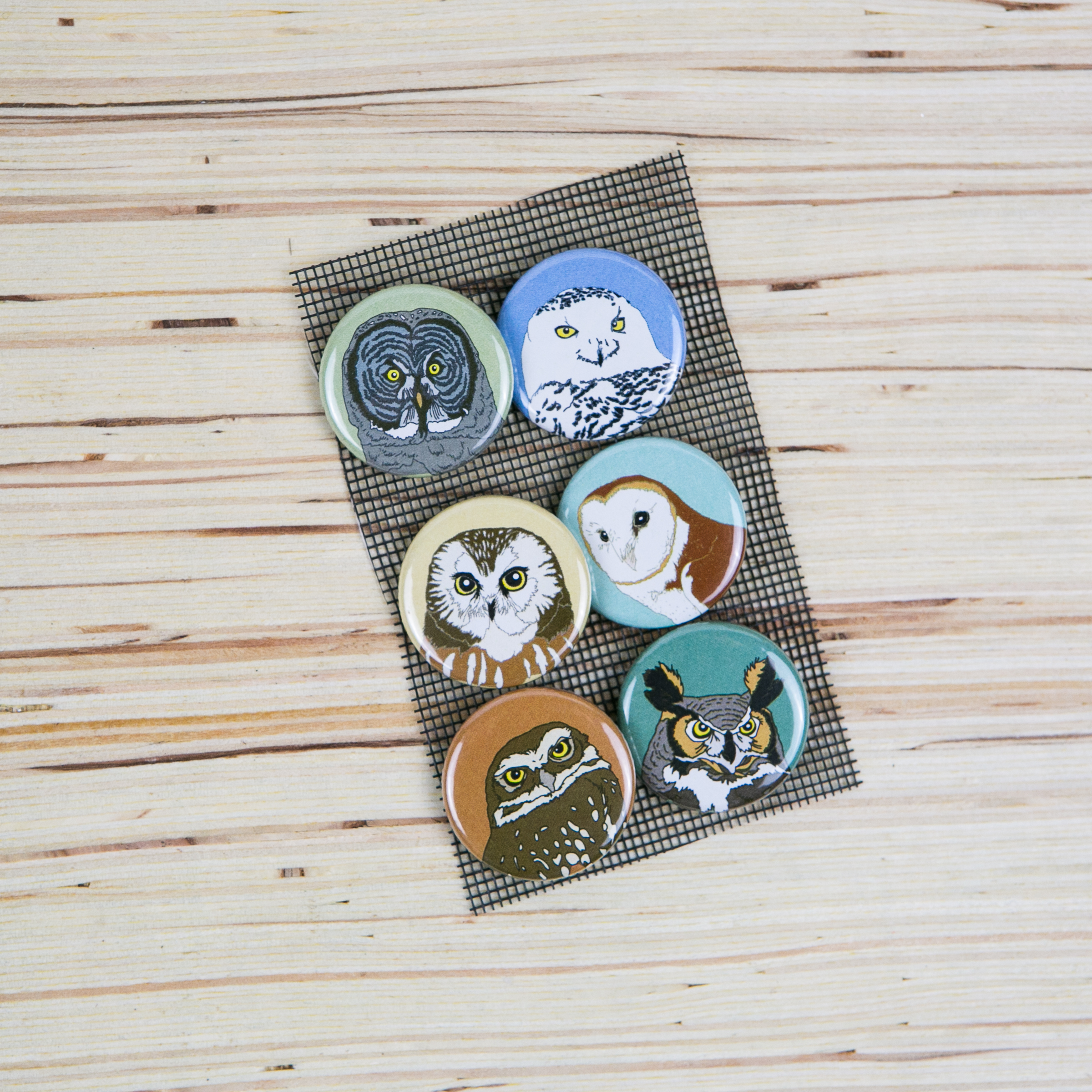 Owl pins featured in the Wonderkin Owl Box