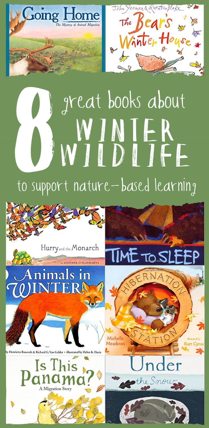 8 Great Books About Winter Wildlife to Support Nature Based Learning - via Wonderkin