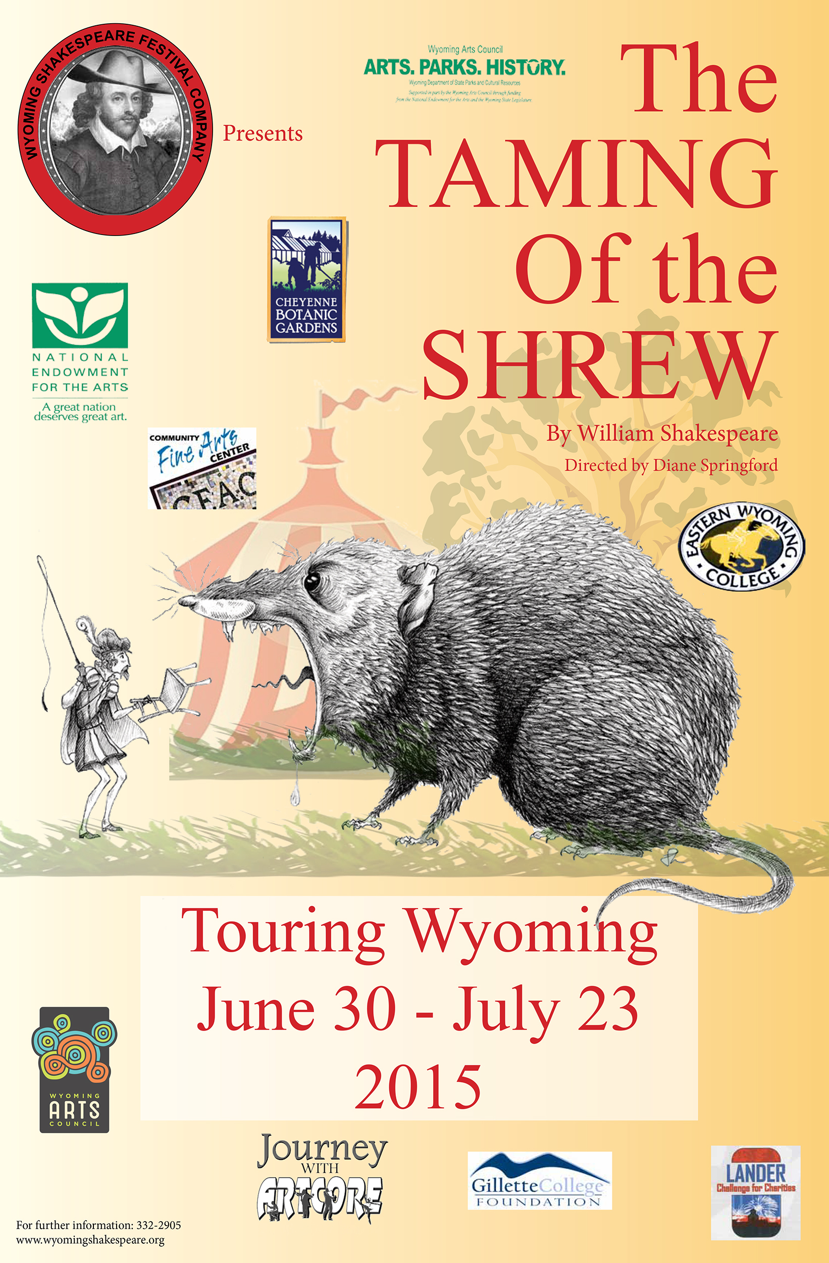 The Taming of the Shrew, Wyoming Shakespeare Festival Company Production
