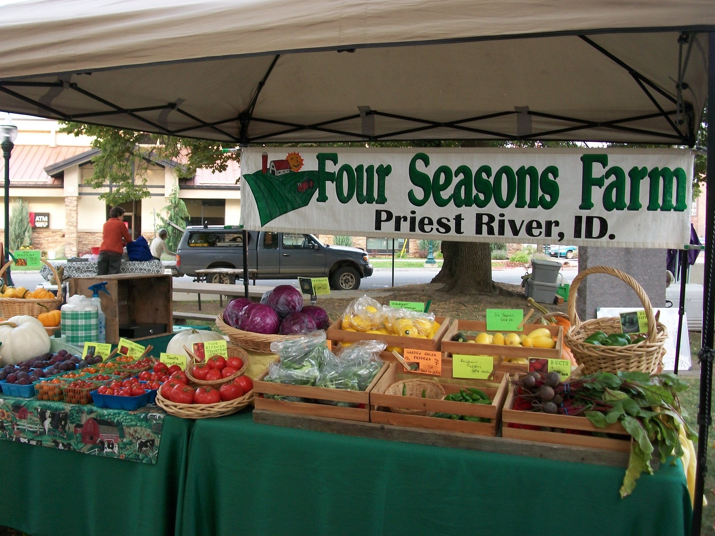 Saturday Farmers Market in Sandpoint, Idaho