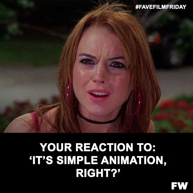 Happy Friday, animators! This one is for you!!⠀ .⠀ .⠀ . #favefilmfriday #meangirls #onwednesdayswewearpink #animation #filmproduction #filmoftheday