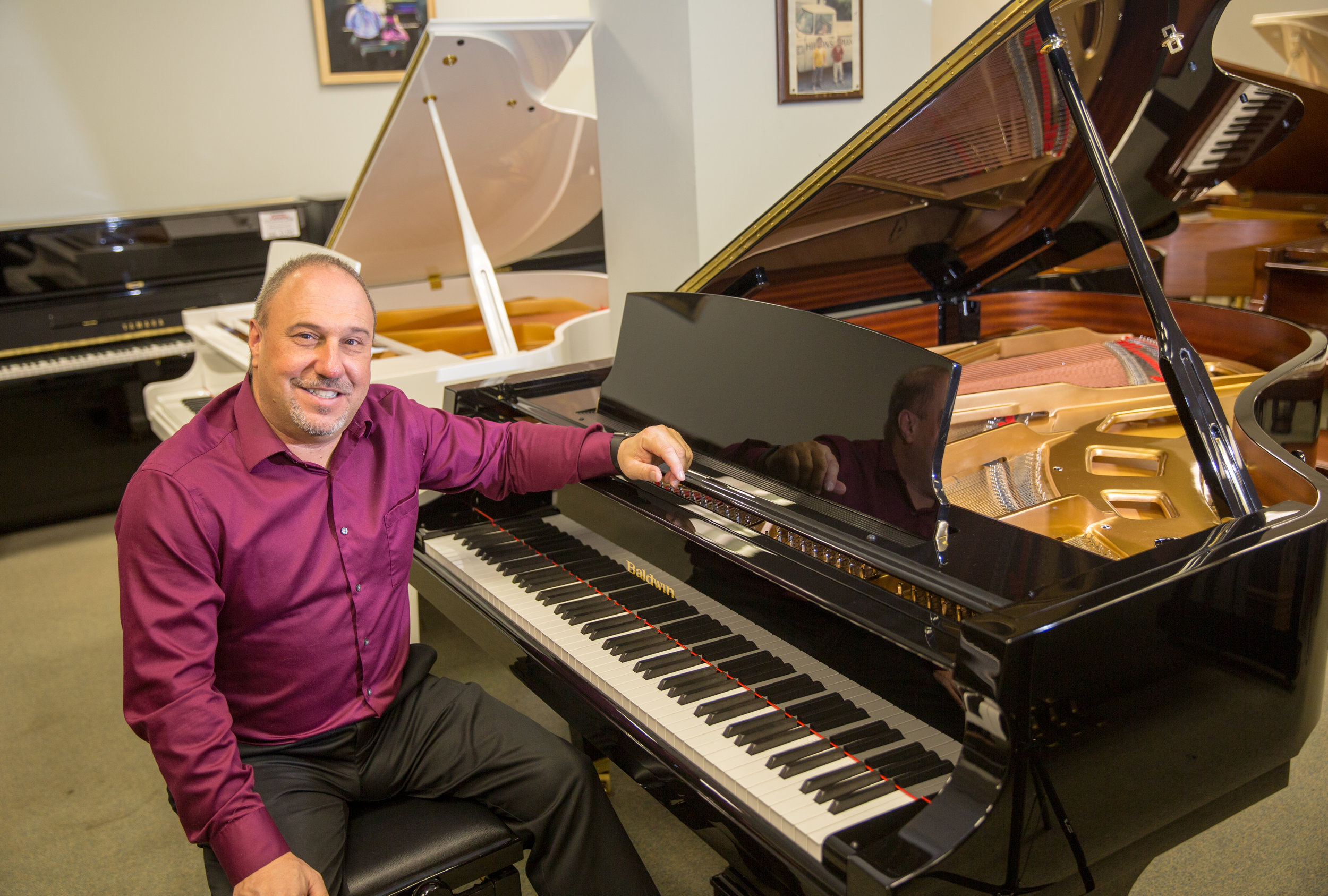 Robert Hilton, Jr.  Owner of Hilton Piano Center.
