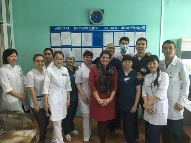 Marat Sharanov, junior sister with clinical team