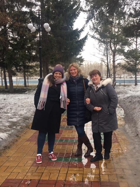 The team Marat Sharanov, Yvonne Carter & Breda Athan Senior Matron Infection & Immunity