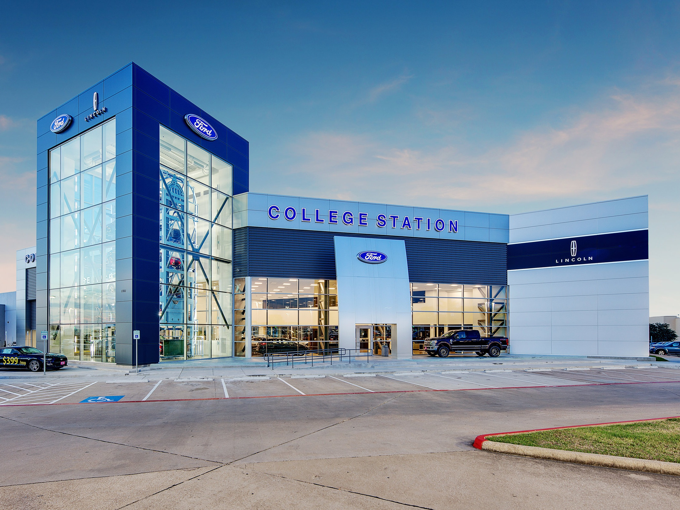College Station Ford >> Auto Dealership Design Goree Architects