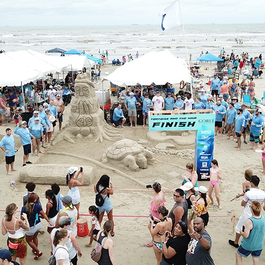 2019 AIA SANDCASTLE COMPETITION - Goree Architects competed in the KIDTASTIC: FABLES & FOLKLORE theme this year. We took team building to new heights!