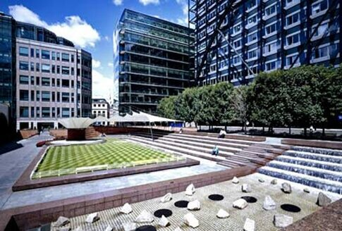 HAYDN DAVIES, WHILST WORKING FOR STANHOPE, LED THE DESIGN ASPECTS AND ART PROGRAMME ON THE BROADGATE OFFICE AND LEISURE DEVELOPMENT IN THE CITY OF LONDON