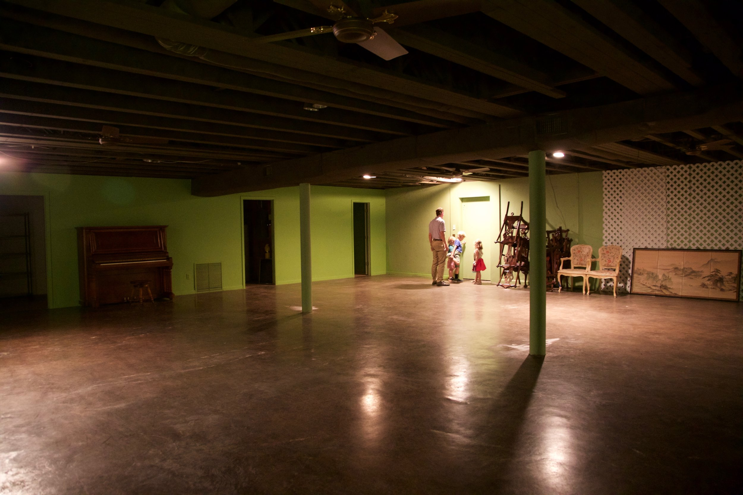 THE BASEMENT! One of the primary aspects of the house we were instantly in love with. An art room will be going down here, among other things! I briefly considered making it a roller rink and/or trampoline park. Those ideas got vetoed. xxSF.