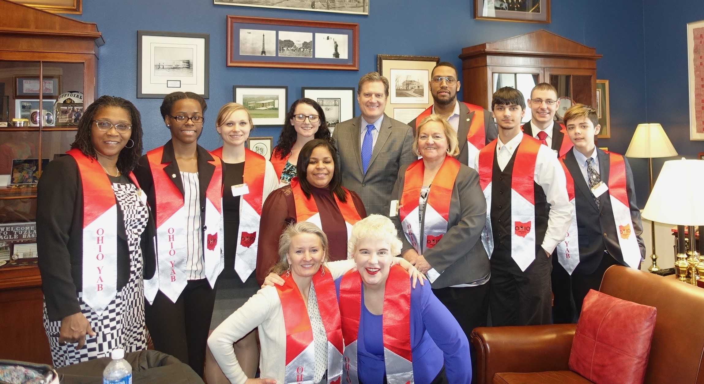 June 2016 Members of the Ohio Youth Advisory Board meet with Rep. Mike Turner to design FSHO/FYI